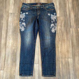 Torrid Jeans Women's 16R Blue Skinny Floral